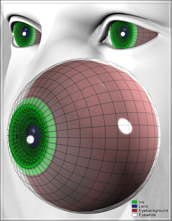 Vereinfachtes Augenmodell