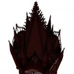 Modell einer gotisch inspirierten Vitrine, texturierte Ansicht 2