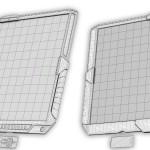 Modell eines interaktiven Computertabletts, futuristischer und von Filmen inspirierter Entwurf