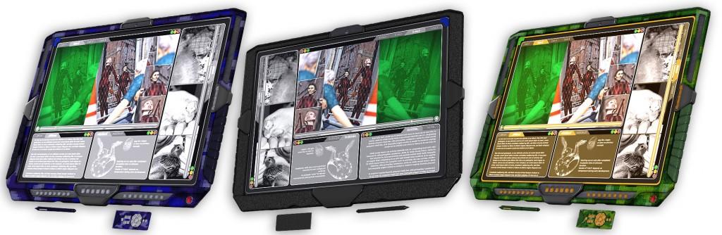 Tablett mit Texturvarianten