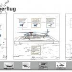 """Schautafel zum Thema """"Hubschrauberflug"""""""