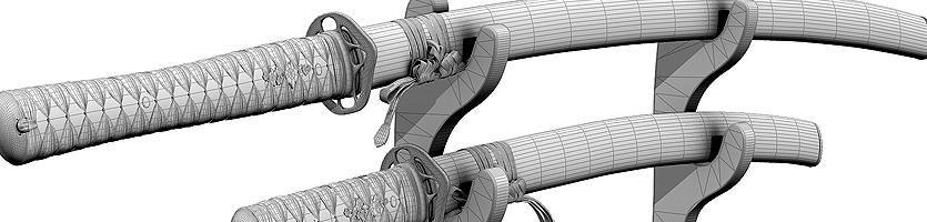 Katanas – 3D-Modell