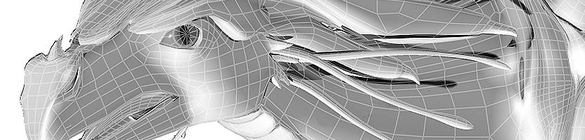 """WIP Drachenfigur """"OceanQueen""""  – 3D-Modell"""