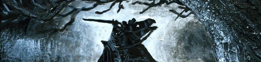 """Acrylbild """"Under a Dark Tree"""""""