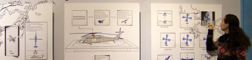 Hubschraubertafel im LWL-Museum für Naturkunde